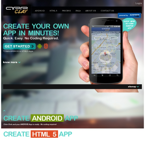 Create Free Android Apps, Create HTML5 Apps - No Coding Required