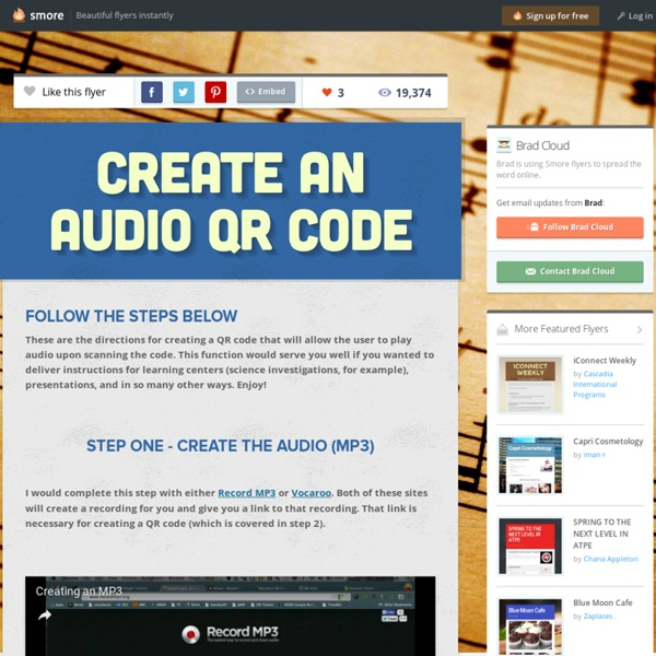 Create an Audio QR Code