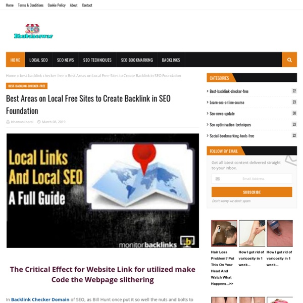 Best Areas on Local Free Sites to Create Backlink in SEO Foundation
