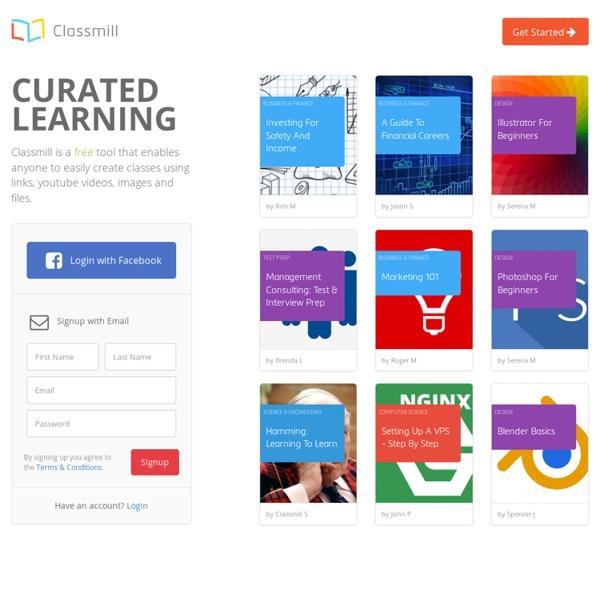 Classmill: 快速線上建立學習教材的免費資源, Video, Image, 超連結. 堪入網頁等