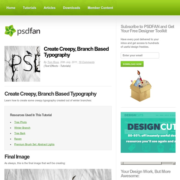Create Creepy, Branch Based Typography