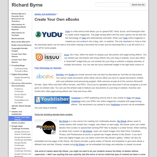 Create Your Own eBooks - Richard Byrne