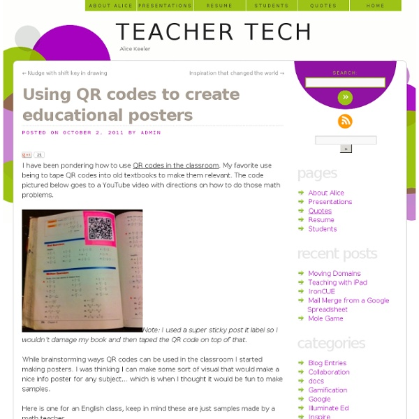 Using QR codes to create educational posters