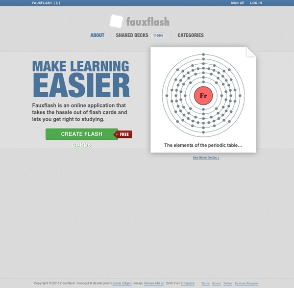 Create Flash Cards Online for Free - Fauxflash