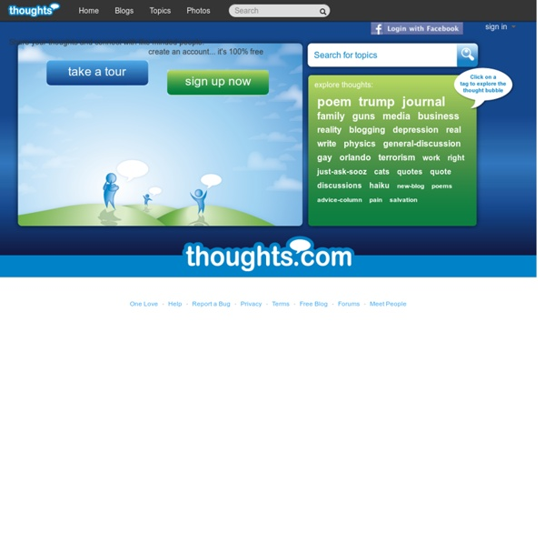 Create a Free Blog at Thoughts