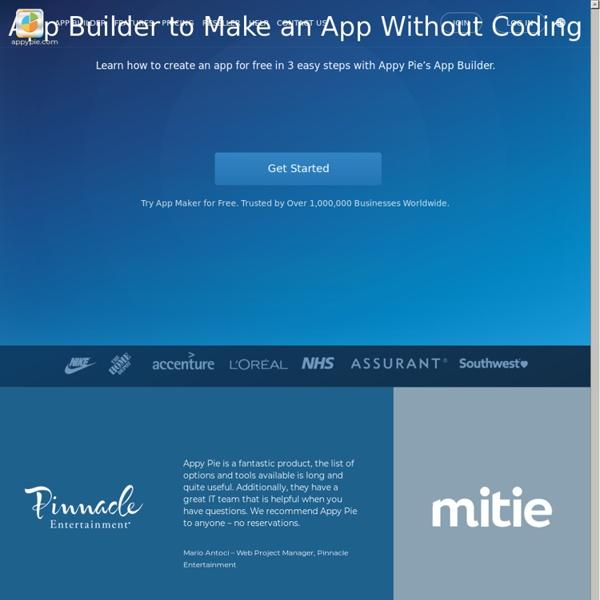 App Maker Appy Pie rated best FREE Mobile App Builder
