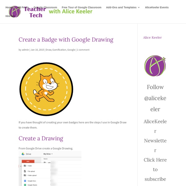 Create a Badge with Google Drawing