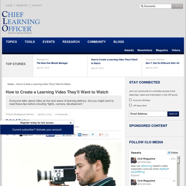 How to Create a Learning Video They'll Want to Watch