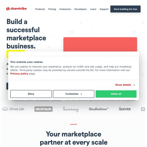 Create a marketplace with Sharetribe