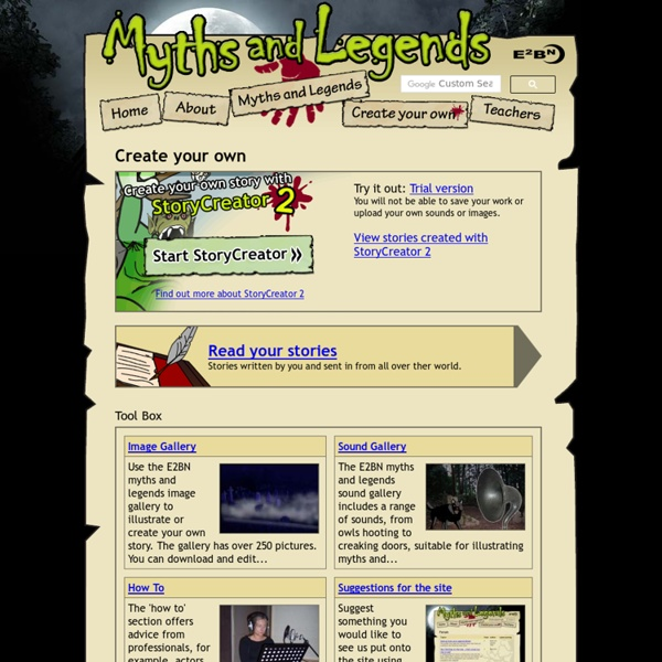 Create your own Myths or Legends