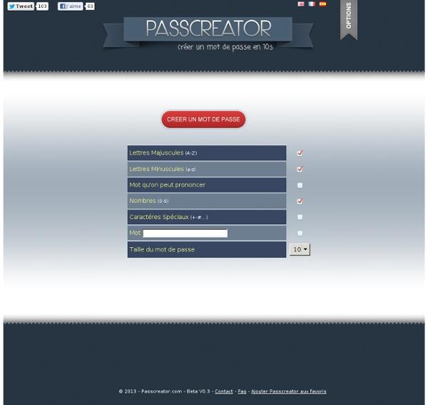 Create a password : Pass Creator