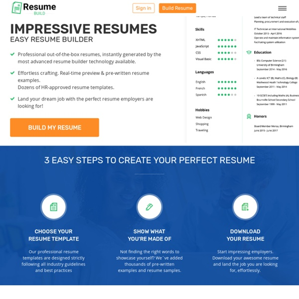 Create A Perfect Resume In 5 Minutes!