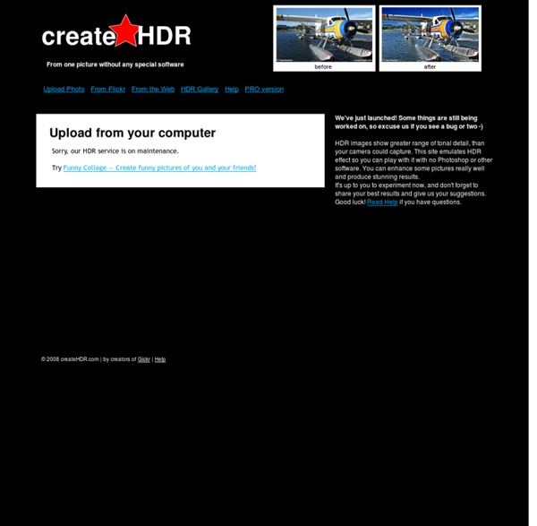 Create HDR photos: Online, Free, Right Now!