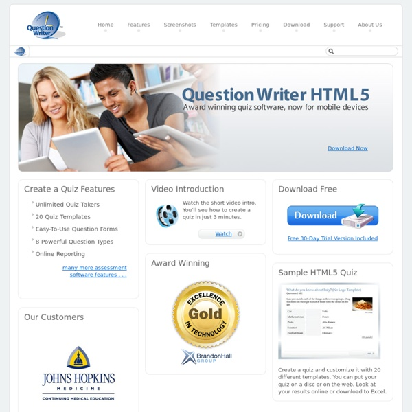 Create a Quiz with Question Writer HTML5