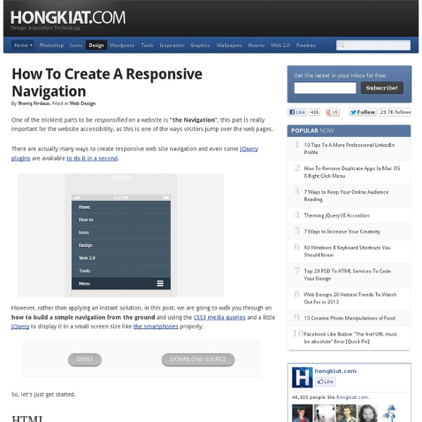 How to Create a Responsive Navigation