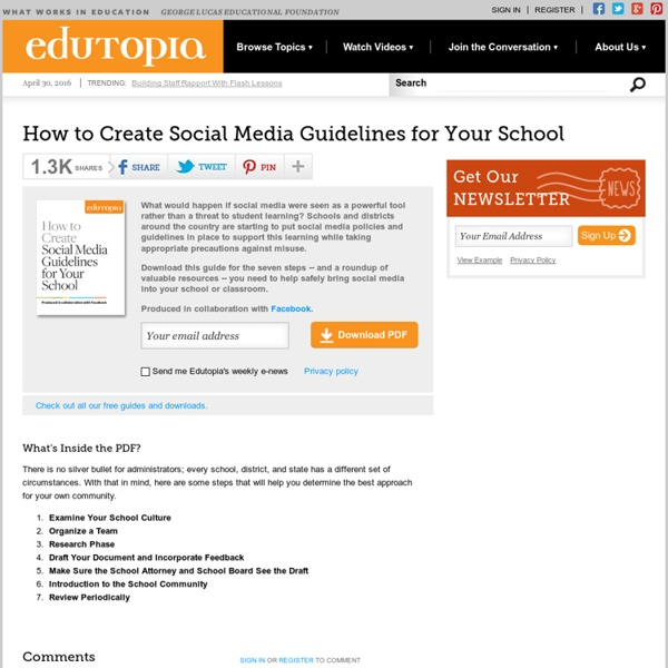How to Create Social Media Guidelines for Your School