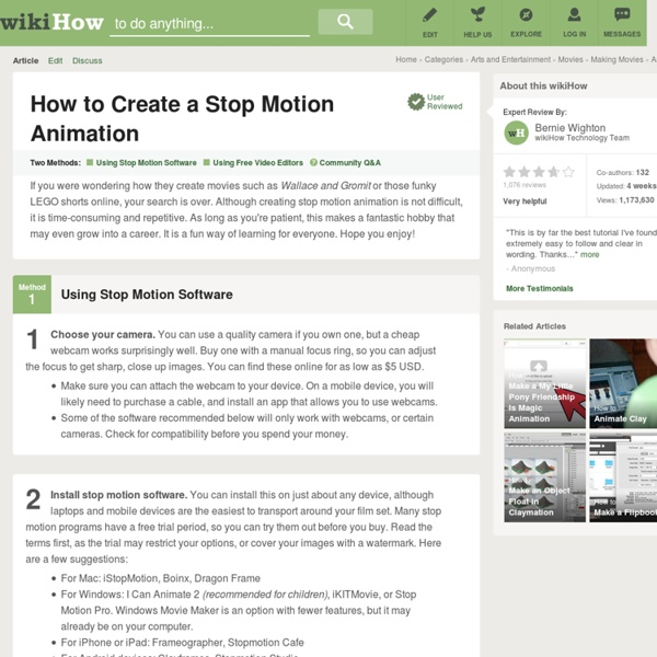 5 Ways to Create a Stop Motion Animation