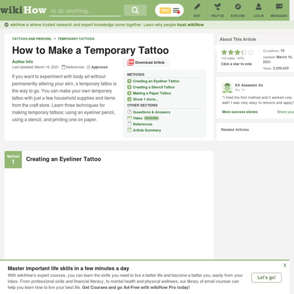 How to Create Your Own Temporary Tattoo: 8 Steps | Pearltrees