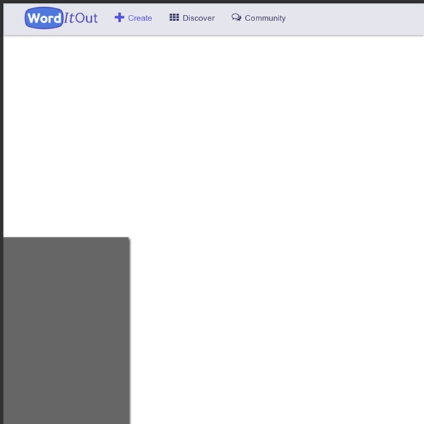 Create word clouds – WordItOut