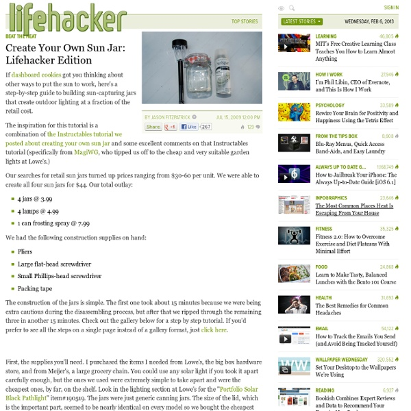 Create Your Own Sun Jar: Lifehacker Edition