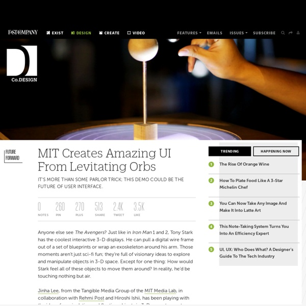 MIT Creates Amazing UI From Levitating Orbs