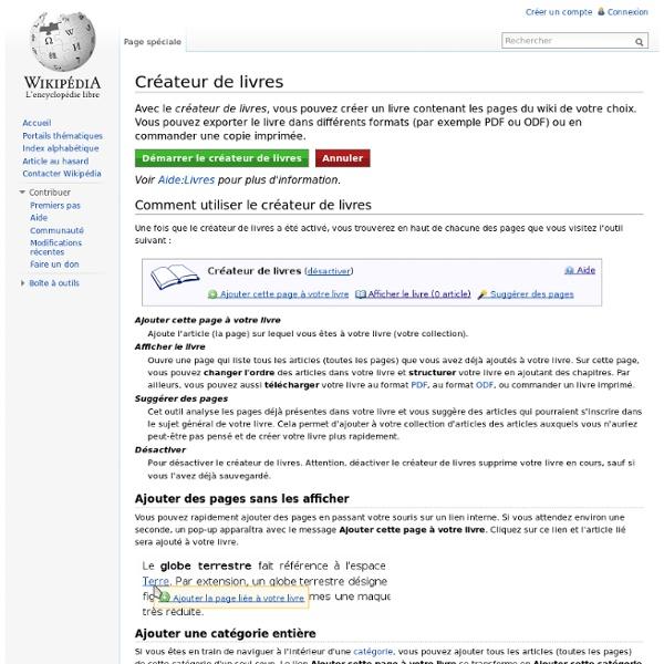 Créateur de livres (Wikipédia)
