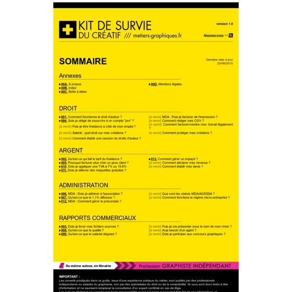 KIT DE SURVIE DU CREATIF /// metiersgraphiques.fr