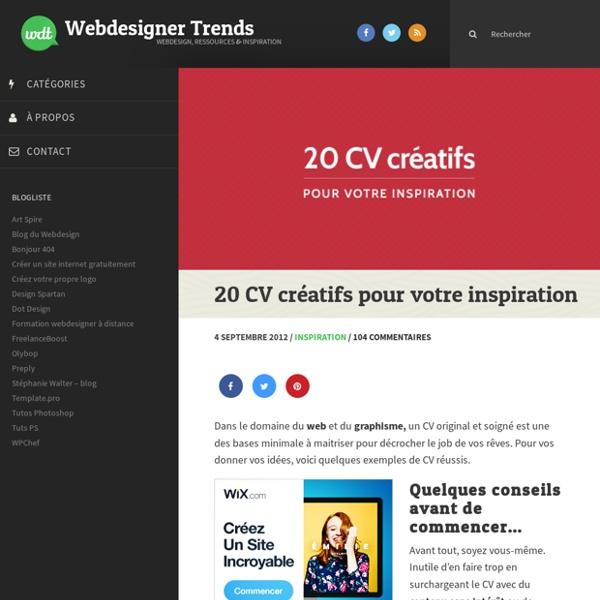 20 CV créatifs pour votre inspiration
