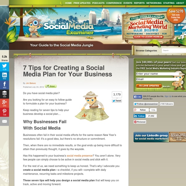 7 Tips for Creating a Social Media Plan for Your Business