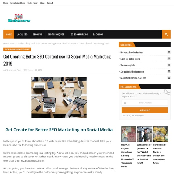 Get Creating Better SEO Content use 13 Social Media Marketing 2019