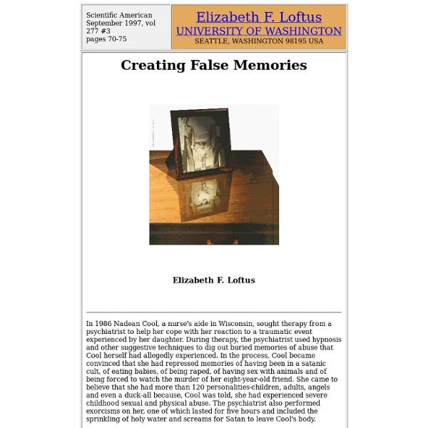 Creating False Memories