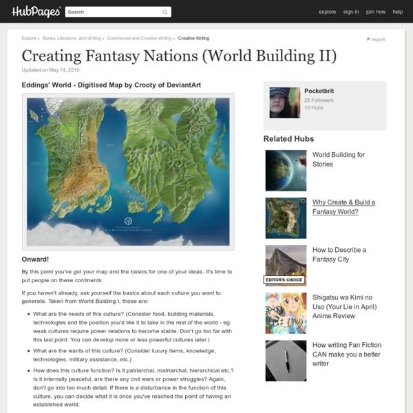 Creating Fantasy Nations (World Building II)