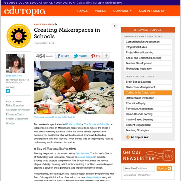 Creating Makerspaces in Schools