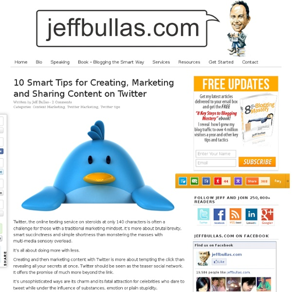 10 Smart Tips for Creating, Marketing and Sharing Content on Twitter