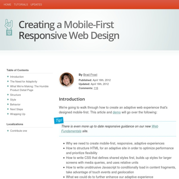 Creating a Mobile-First Responsive Web Design