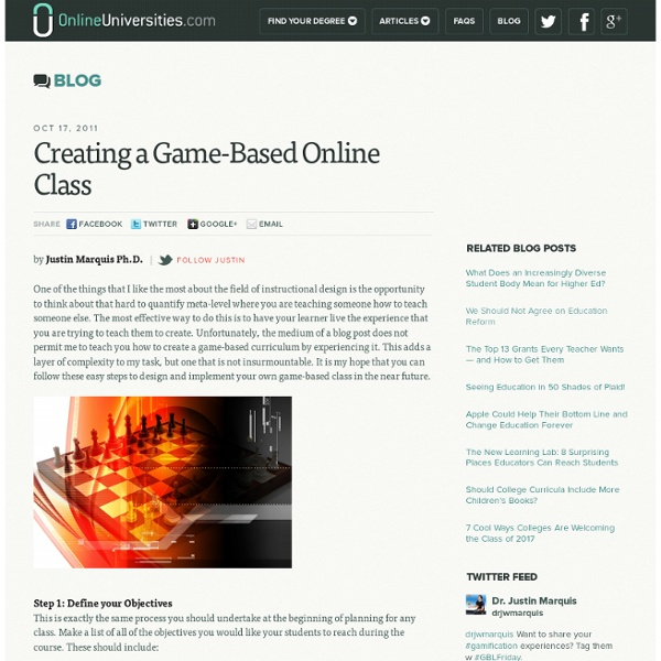 Creating a Game-Based Online Class