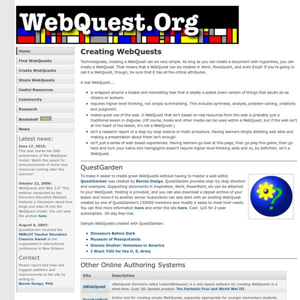 Creating WebQuests