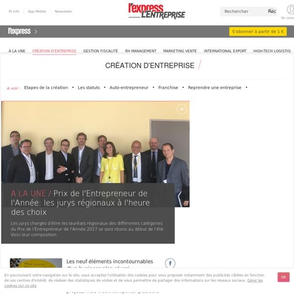 Création d'entreprise - L'Express L'Entreprise