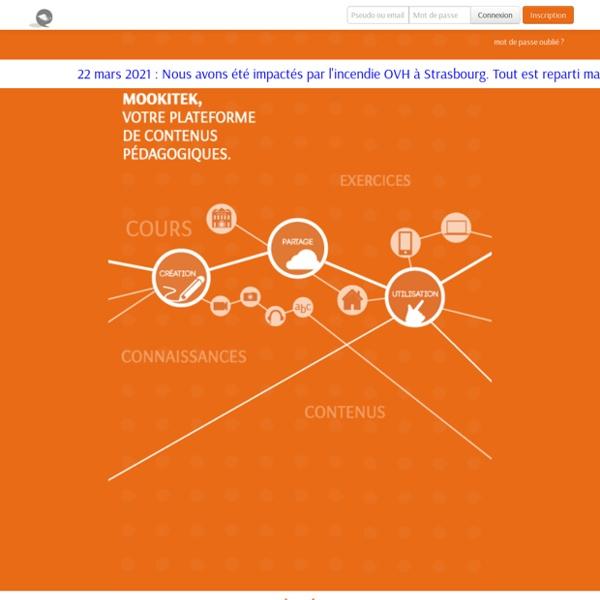 Mookitek - Exercices en ligne: création, partage et suivi