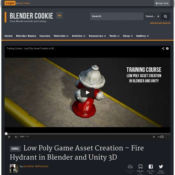 Low Poly Game Asset Creation - Fire Hydrant in Blender and
