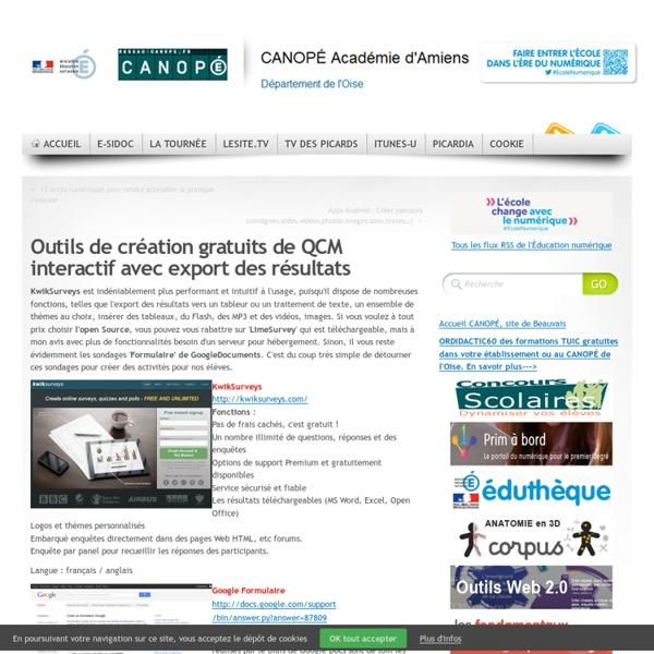 KwikSurveys : Outils de création gratuits de QCM interactif avec export des résultats