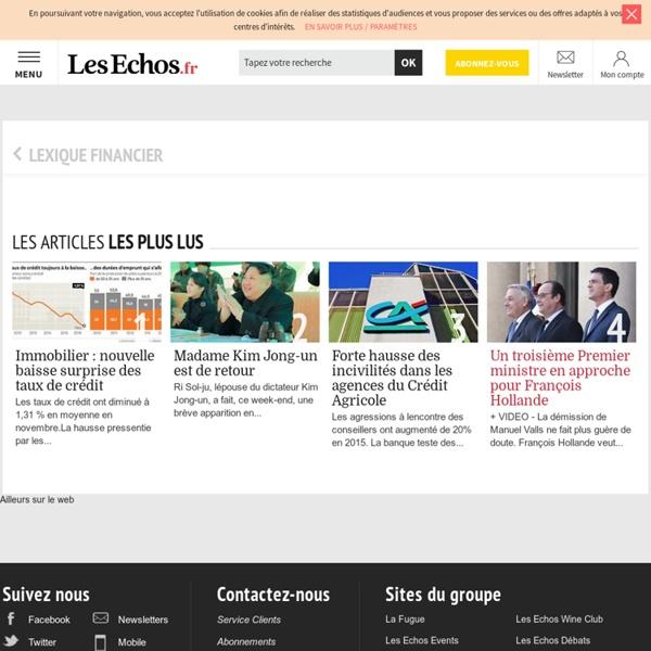 Création de valeur - Définition financière - LesEchos.fr