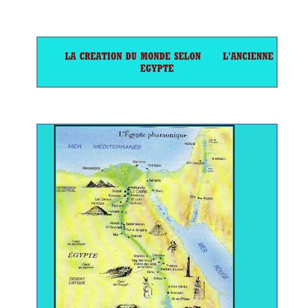 LA CREATION DU MONDE SELON L'ANCIENNE EGYPTE (.pdf)