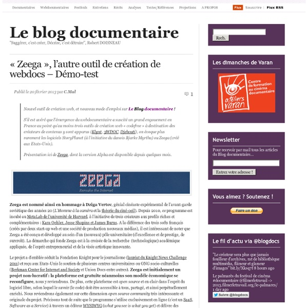 «Zeega, l'autre outil de création de webdocs – Démo-test