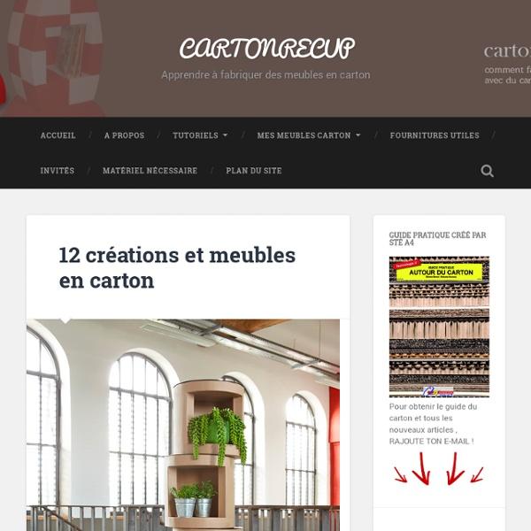 11 creations et meubles en cartons