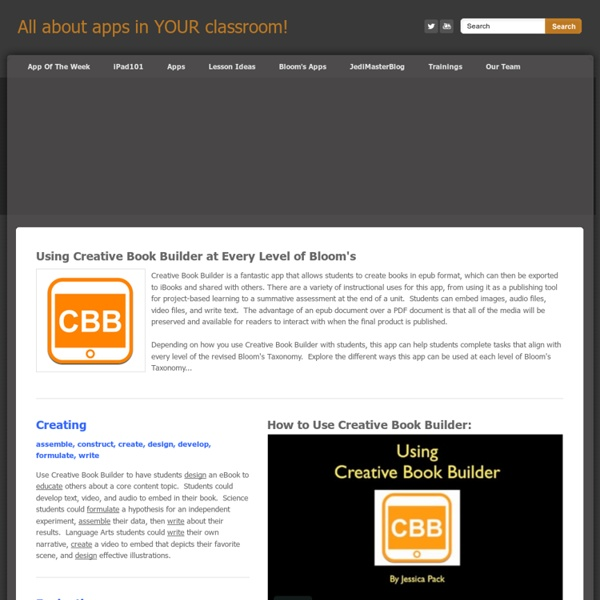 Creative Book Builder - All about apps in YOUR classroom!