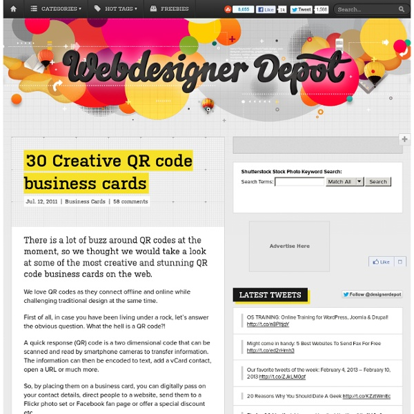 30 Creative QR code business cards