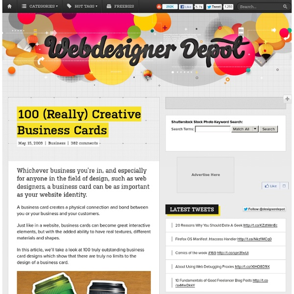 100 (Really) Creative Business Cards