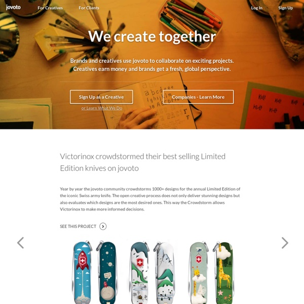 Jovoto / empowering creatives / homepage