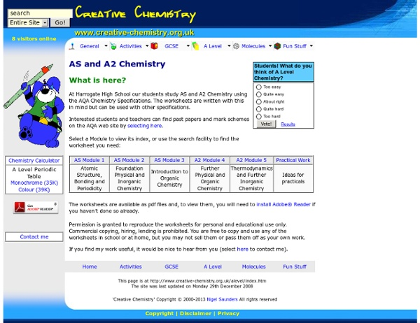 Creative Chemistry AS and A Level Stuff